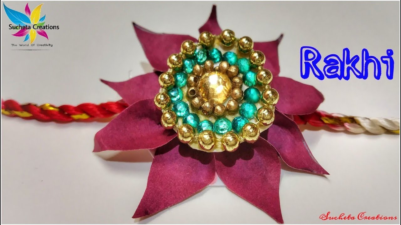 how to make beautiful rakhi at home