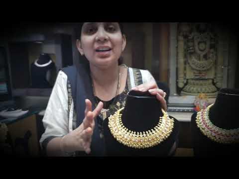 Tussi kundan neckalce designs