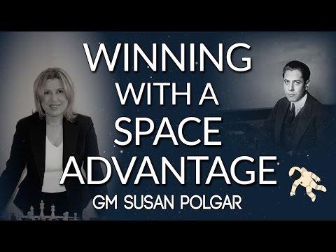 Capablanca's Method for Winning With a Space Advantage  GM Susan Polgar