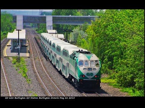 RAILREEL VIA GO Commuter CN SOR Hamilton Ontario May 28 2015