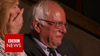 Bernie Sanders and brother cry at convention - BBC News