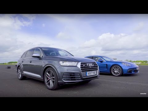 Audi SQ7 vs Porsche Panamera - Drag Races - Top Gear