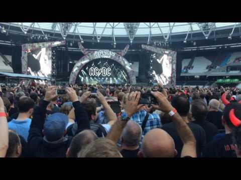 'Back in Black' - AC/DC w Axl Rose - London - 4 Jun 16 - HD Audio