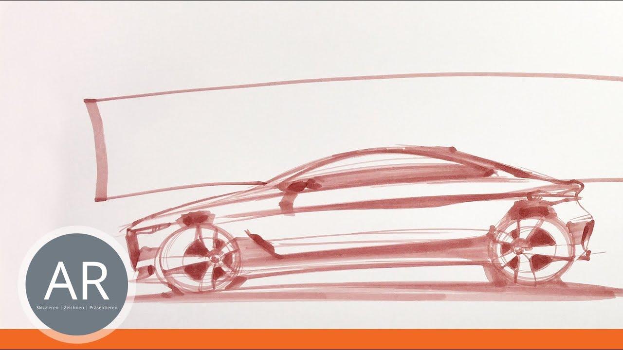 Transportation Design-Skizzen. Concept-Cars. Autos zeichnen lernen ...