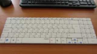 Беспроводная клавиатура Rapoo E9070 (белая)