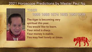 2021, Year of Metal OX, Zodiac Prediction, Tiger people, Feng Shui Master, Paul Ng, Toronto, Canada