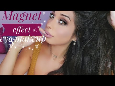Magnetic eyes make-up -  Smokey eyes and nude lipstick with NYX LINGERIE - makeup tutorial