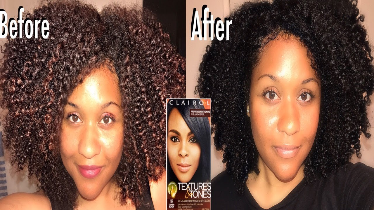 How I Dye My Natural Hair Black With Clairol Textures And Tones