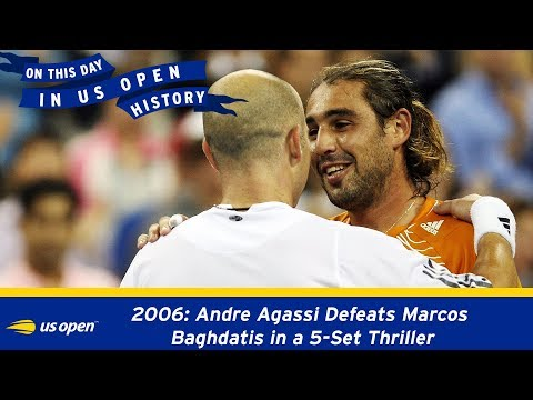US Open On This Day: Andre Agassi Defeats Marcos Baghdatis In A 5-set Thriller