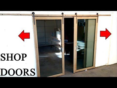 Barn Door Style Shop Doors