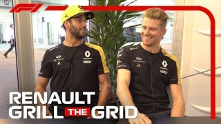 Renault's Daniel Ricciardo and Nico Hulkenberg! | Grill the Grid 2019