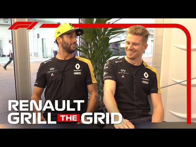 Renault's Daniel Ricciardo and Nico Hulkenberg!   Grill the Grid 2019