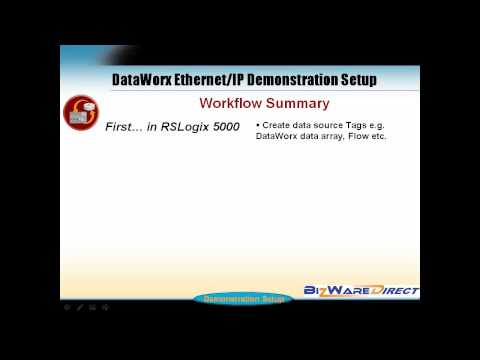 DataWorx Ethernet IP Demonstration Setup Tutorial - PART1A.mp4