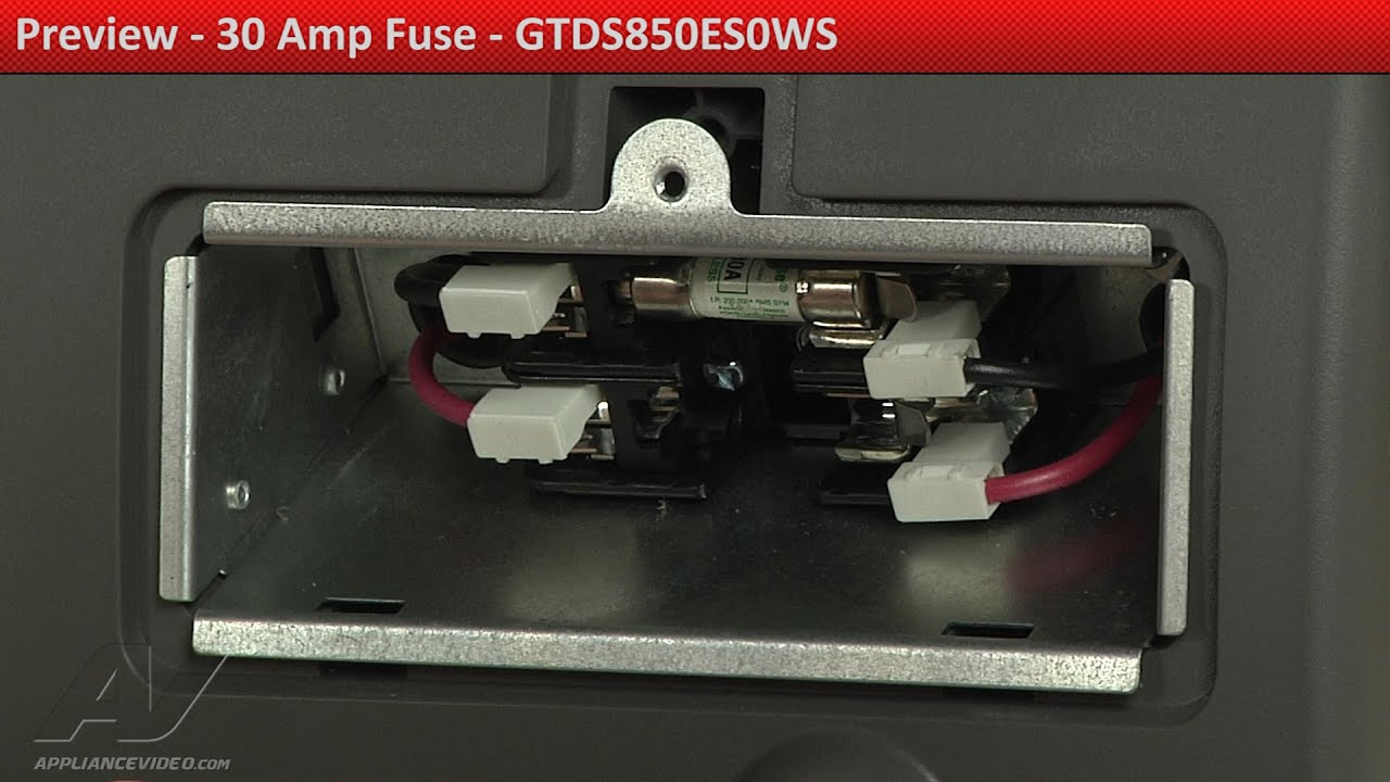 medium resolution of 30 amp fuse gtds850es0ws ge dryer preview youtube dryer 30 amp fuse box