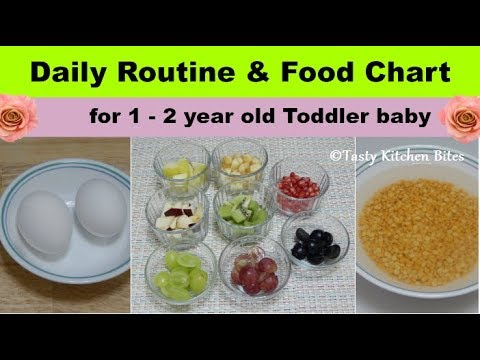 Daily Routine  Food Chart for 1 - 2 year old Toddler baby l