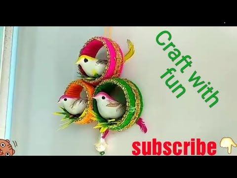 Craft With Waste Material At Home Old Bangle Craft Ideas Wall