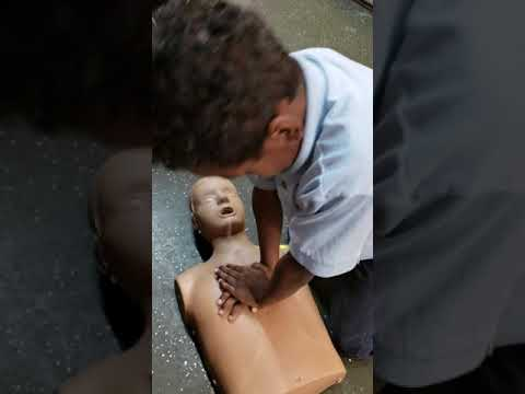 Mason learning CPR