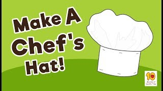 Hot to make a DIY Chef's Hat for Kids
