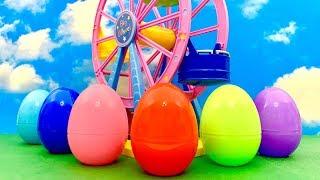 Unboxing Surprise Eggs  Diabelski młyn i Jajko Niespodzianka dla dzieci  huevo sorpresa