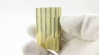 RARE 1970 18K S. T. DUPONT GOLD LIGHTER LIGNE 2(LINE 1,8,D,57,GATSBY,HERMES)70'S