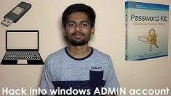 Hack into any Windows ADMIN account in 5 minutes using Spotmau