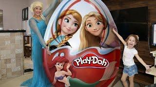 OVO SURPRESA GIGANTE play doh das princesas