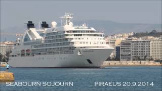 SEABOURN SOJOURN departure from Piraeus Port