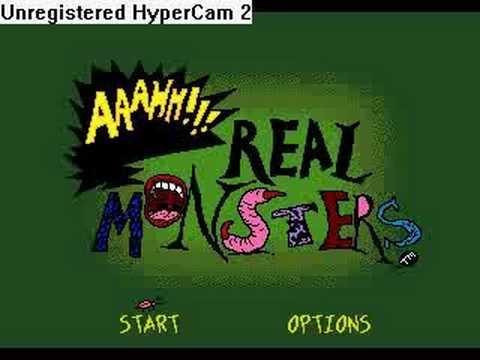 AAAHH!!! Real Monsters Intro Sega Genesis