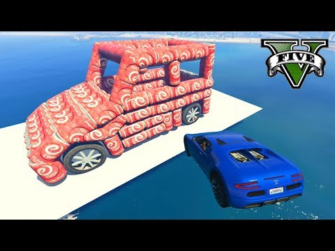 GTA V Online: CORRIDA do CARRO DA COCA COLA GIGANTE!!!