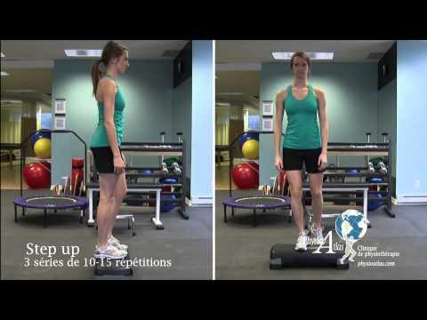 Exercices de renforcement du genou