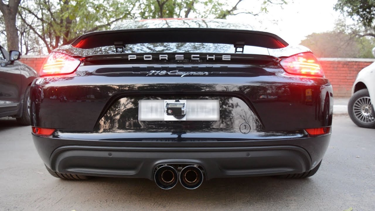 porsche 718 cayman w awe tuning straight pipes exhaust system supercars in chandigarh