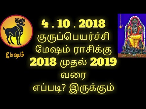 Mesha rasi | gurupeyarchi palangal 2018 to 2019 | குருப்பெயர்ச்சி | மேஷராசி பலன்கள் | Aries