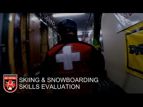 Ski And Snowboard Evaluation Skills Demonstration: Whitetail Ski Patrol
