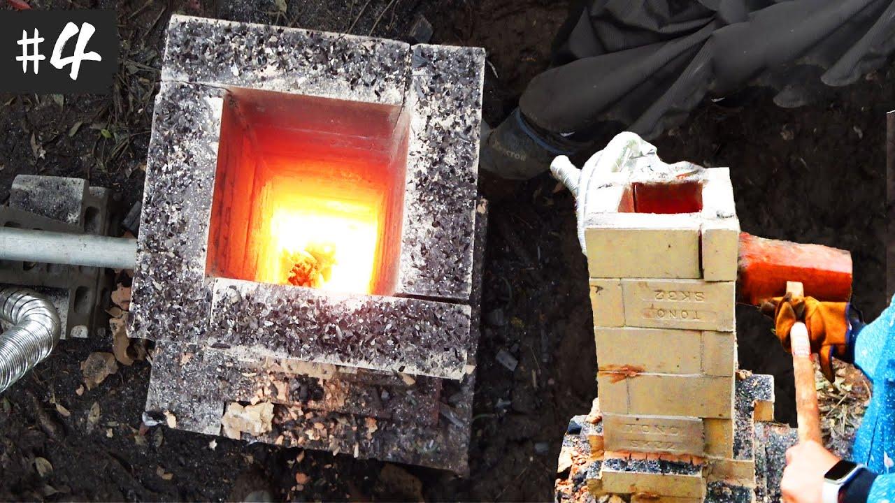 溶鉱炉を破壊して溶けた鉄を取り出す【釣り具サバイバル#4】