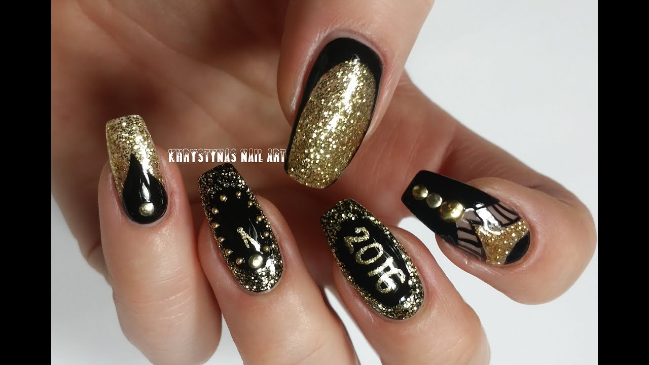 Three Nail Art Designs For New Yearschristmas Holidays Khrystynas