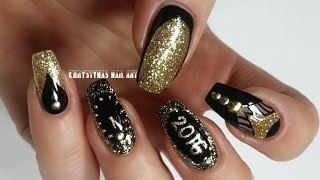 Three Nail Art Designs for New Years/Christmas Holidays (Khrystynas Nail Art)