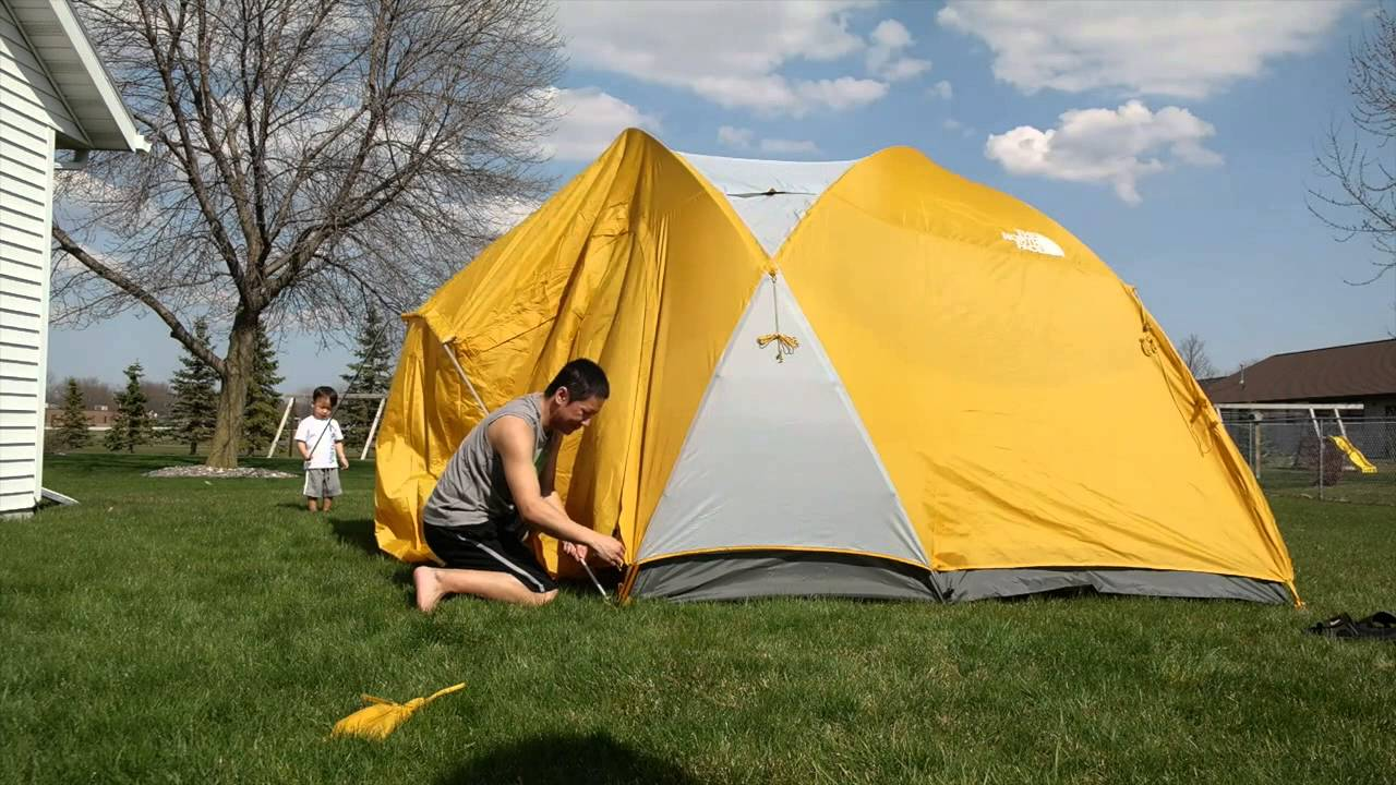 & The North Face Kaiju 6 tent set up - YouTube