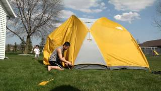 The North Face Kaiju 6 tent set up