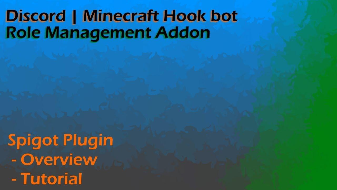 Discord | Minecraft Hook | Role Management Addon | SpigotMC