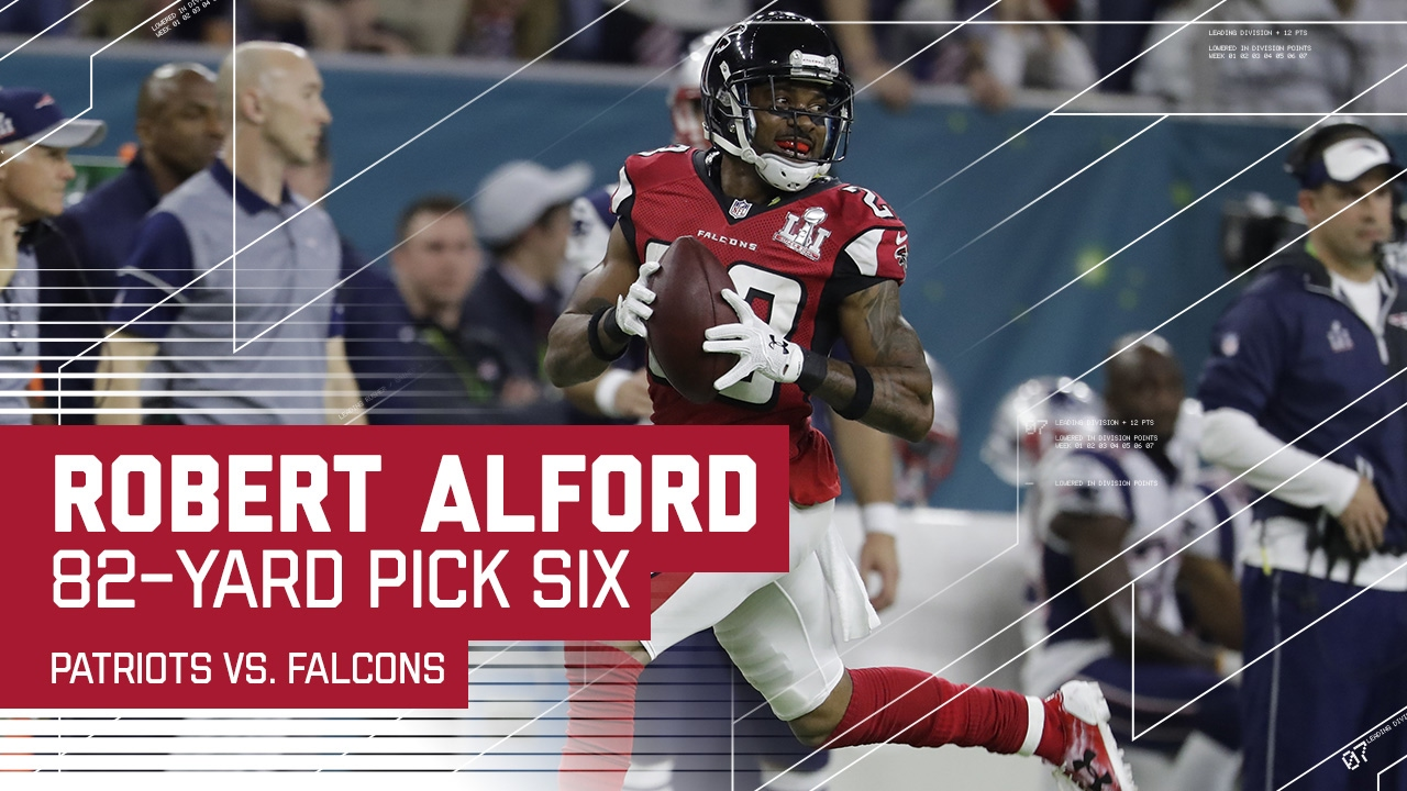Robert Alford Pick 6 f Tom Brady Patriots vs Falcons