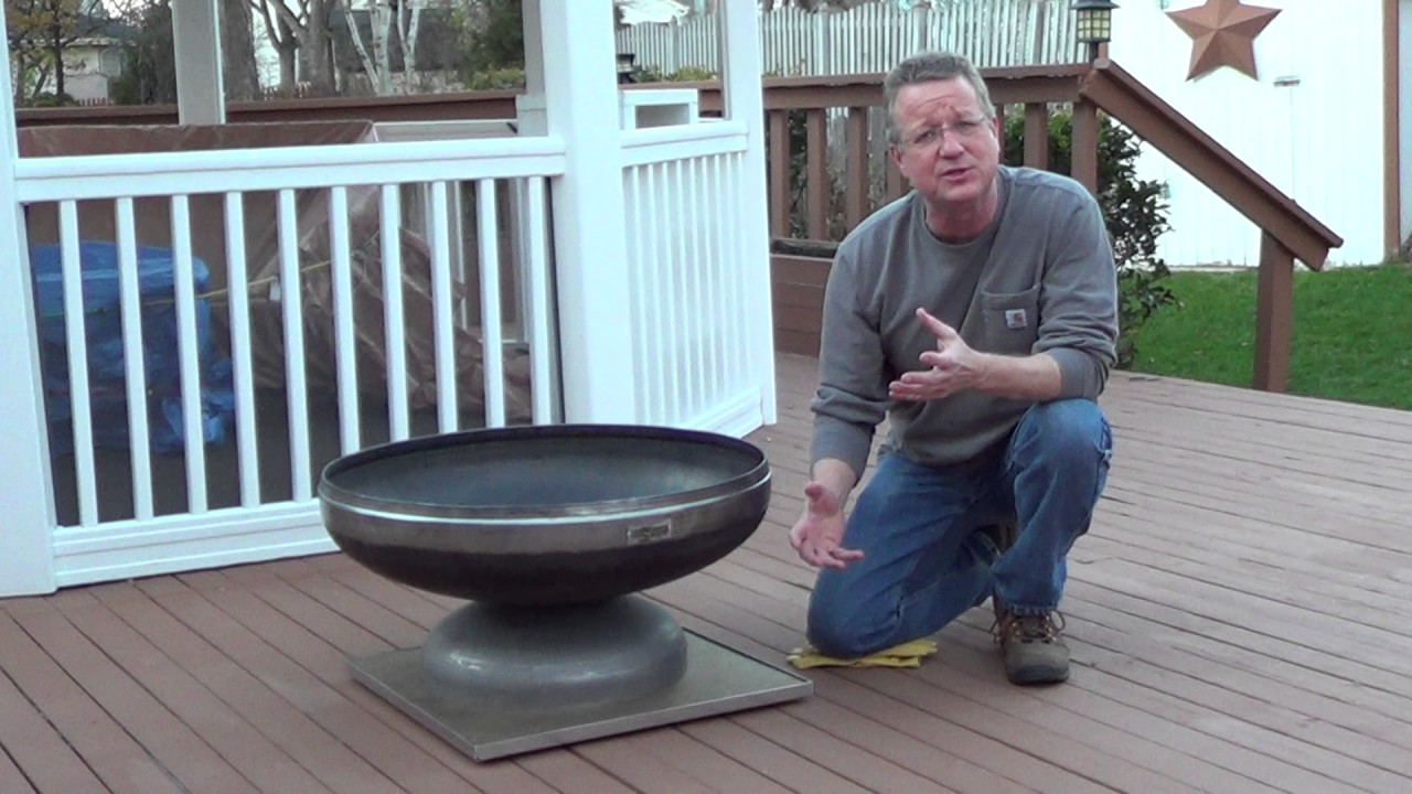 Fire Pit Mat for a Wood Deck - Fire Pit Mat For A Wood Deck - YouTube