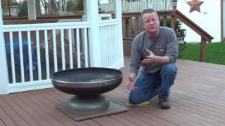 Fire Pit Mat For A Wood Deck Youtube