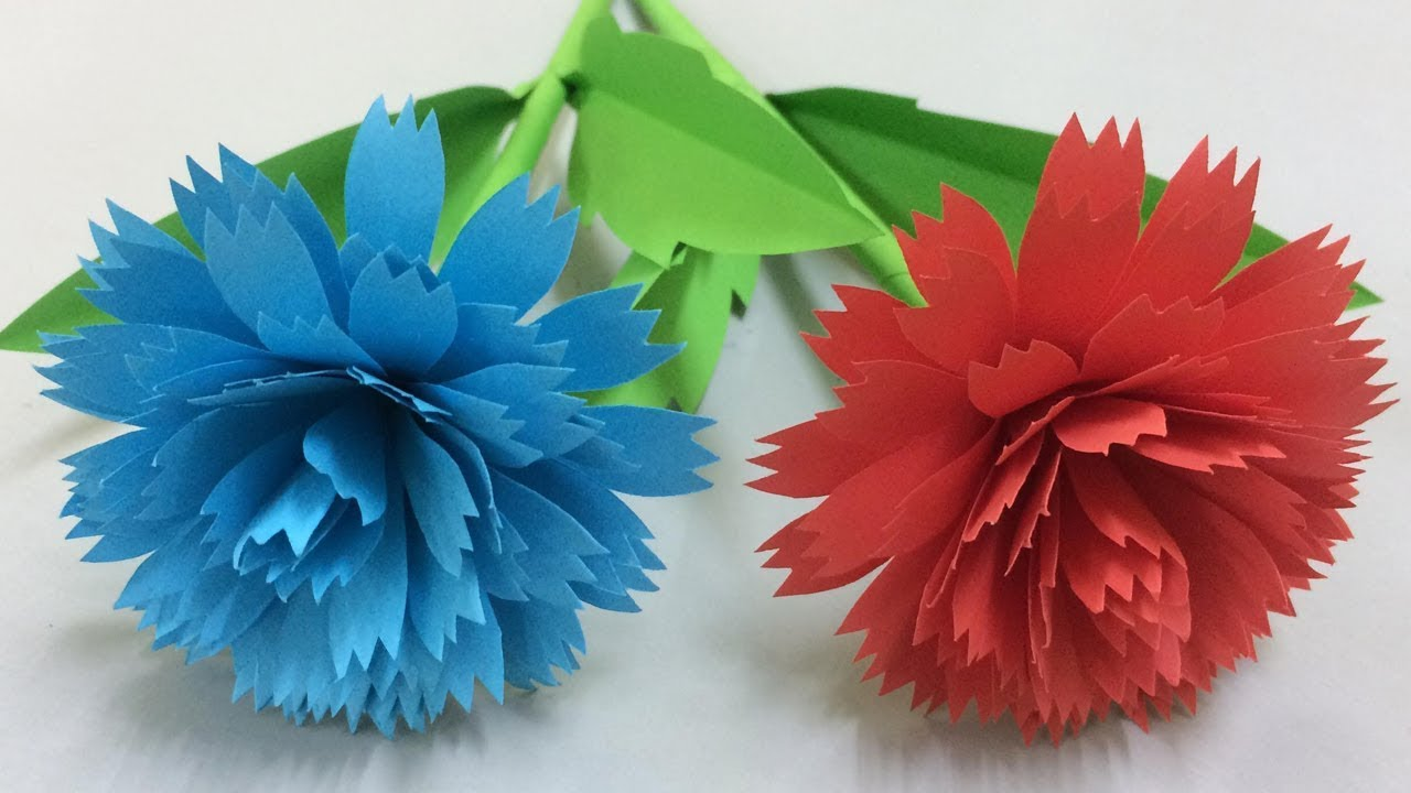 How To Make Paper Flowers Making Paper Flower Step By Step Diy Paper Crafts