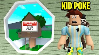 I Saw KIDS ONLY TREEHOUSE.. So I Went Undercover! (Roblox)