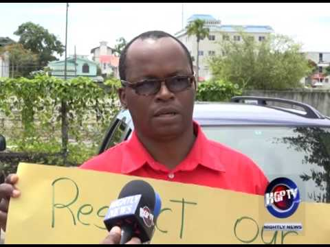 POSTAL UNION AND WORKERS PROTEST GT&T