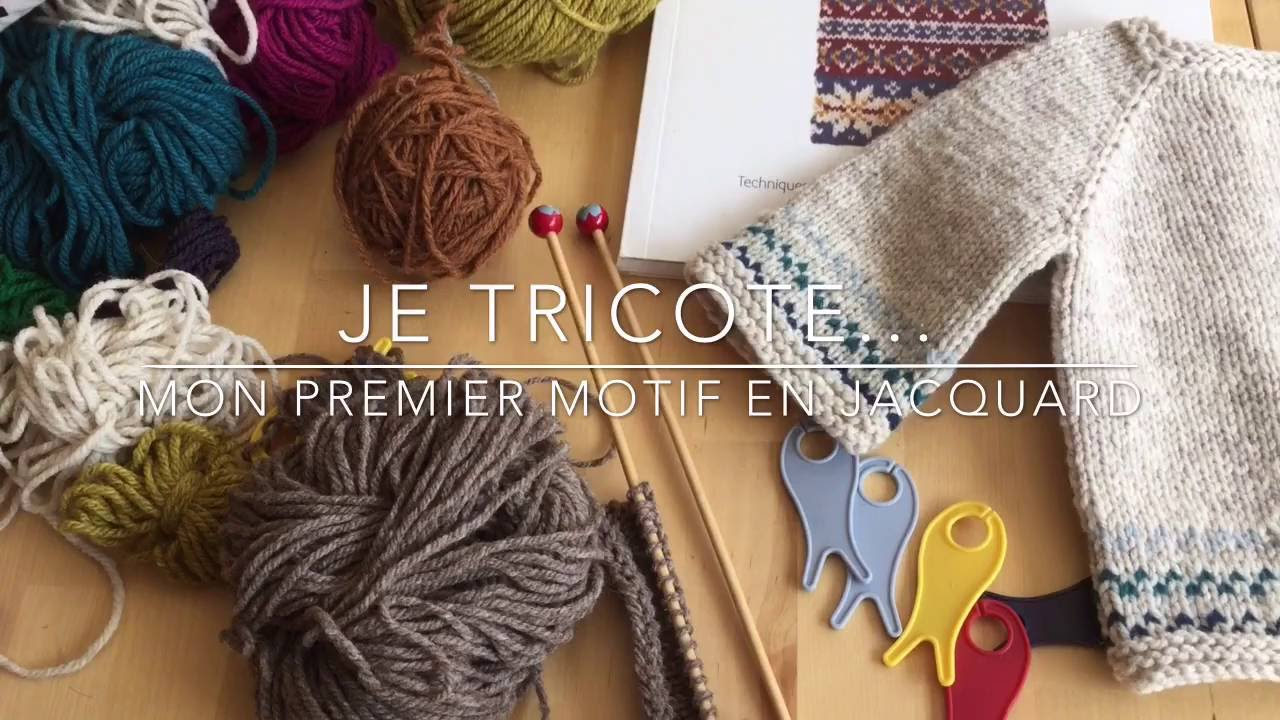 0c70302ce056 Je tricote... mon premier motif jacquard ! - YouTube