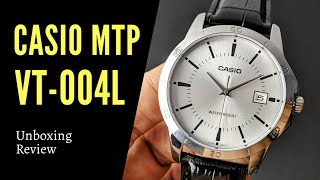 Elegant, Stylish, Simple watch - Unboxing and GIVEAWAY - Casio MTP-V004L (with Subtitle)
