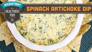 Spinach Artichoke Dip! Healthy Super Bowl Snacks - Mind Over Munch Kickstart Series