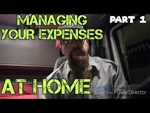 Managing your expenses at home