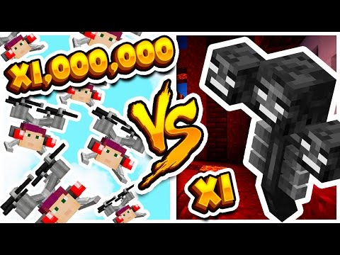 1,000,000 DRONES VS WITHER?!